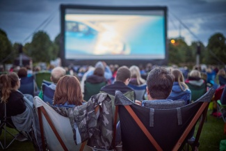 Outdoor Cinema on Broadway Gardens, Letchworth