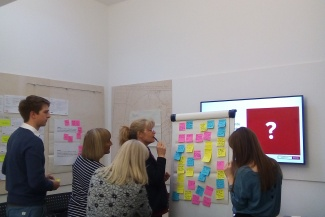 Heritage Foundation staff working in a service design workshop