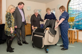 A new chair at Garden House Hospice Care