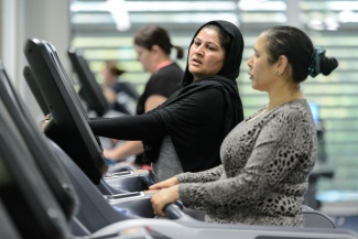 Women on treadmill in the gym