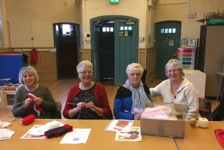 Ladies from the knit and knatter group in Letchworth