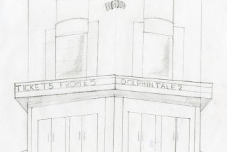 Sketch of The Broadway Cinema, by Ben Galvin