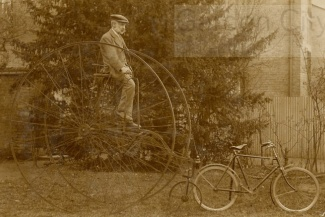 This crazy contraption in the @GC_Collection archives is actually a tricycle - created in a similar style to the equally tricky to ride Penny Farthing bicycle!